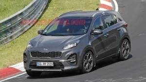 2019 Kia Sportage facelift spotted undisguised at the Nurburgring