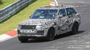 Range Rover SV Coupe SUV spied testing at Nurburgring