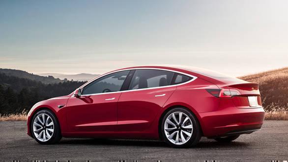 Tesla Model 3 all-wheel drive electric sedan bookings to ...
