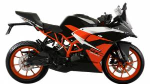 KTM RC200 now available with a black colour option