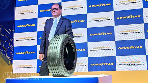 PK Walia, VP Consumer Tyres, Goodyear India introduces the Assurance Triplemax 2 tyre