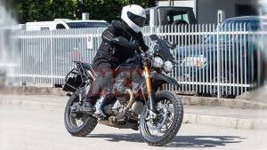Moto Guzzi V85 adventure tourer spied testing for the first time