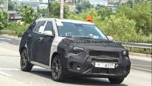 Production-spec Kia SP crossover spotted testing under disguise