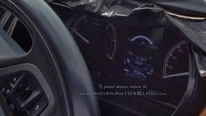 Tata Harrier SUV interior details revealed in spy shots