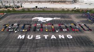 10 Millionth Ford Mustang rolled out of the Flat Rock assembly plant in Michigan