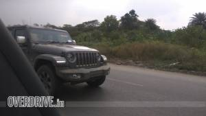 Next generation Jeep Wrangler SUV spotted testing undisguised in India