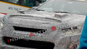 Isuzu D-Max V-Cross facelift spotted testing in India