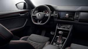 Skoda Kodiaq RS interiors revealed ahead of Paris Motor Show debut