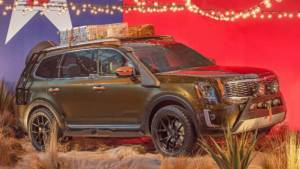 2020 Kia Telluride SUV prototype shown at New York Fashion Week