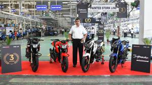 TVS Apache motorcycle series crosses 3 million sales mark