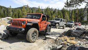 Driving the Rubicon, one of the world's most difficult off-road trails
