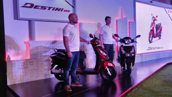 2018 Hero Destini 125 scooter launched in India at Rs 54,650