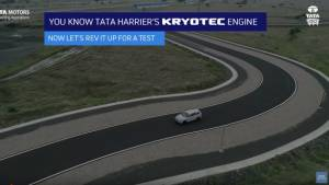 Upcoming Tata Harrier SUV undergoes handling tests in new video