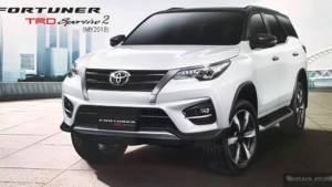 Toyota Fortuner TRD Sportivo 2 SUV unveiled in Thailand with sportier trim