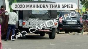2020 Mahindra Thar off-roader spotted testing under camoflage