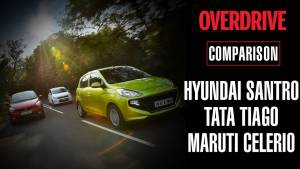 Hyundai Santro v Tata Tiago v Maruti Suzuki Celerio