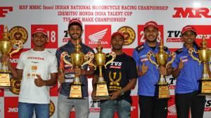 2018 INMRC: TVS Racing's Jagan Kumar wins the Super Sport 165cc championship