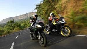 Suzuki V-Strom 650 XT vs Kawasaki Versys 650 comparison test