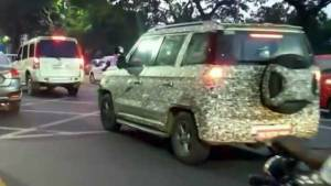 2019 Mahindra TUV 300 SUV facelift spotted  testing in India