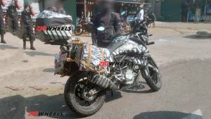 2019 KTM 390 Adventure spied in India again, this time with saddlebags