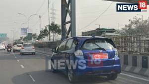 Honda Jazz EV spotted testing undisguised in India