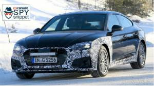 2019 Audi A5 spied testing - could be updated with mild hybrid system
