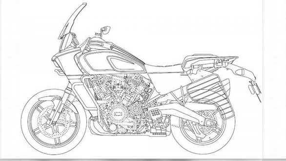 Harley-Davidson 975 Streetfighter, 1250 Custom and Pan America patent drawings leaked