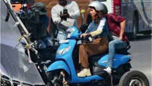 2019 Hero Pleasure spotted on shoot for Television Commercial