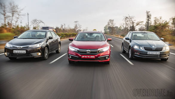 Comparison test: Honda Civic vs Toyota Corolla Altis vs Skoda Octavia