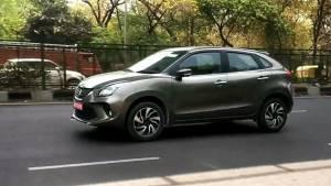 2019 Maruti Suzuki Baleno hybrid spotted on test in India