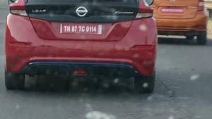 Nissan Leaf and e-Note electric vehicles spotted uncamouflaged on test in Delhi