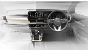 Made-In-India Kia SUV's interior design sketch revealed