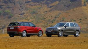 Exclusive comparison test: Range Rover Sport vs Volvo XC90
