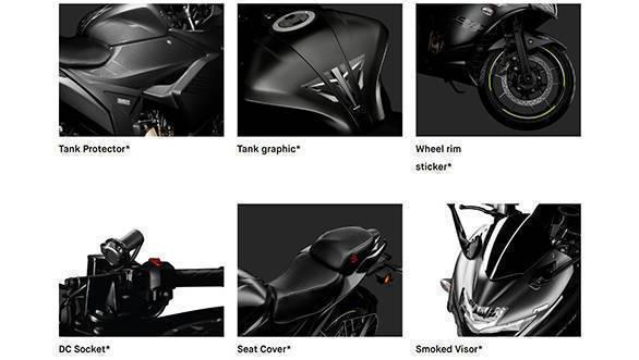 Suzuki Gixxer SF and Gixxer SF 250 accesories list revealed
