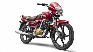 TVS Radeon gets two new colours Volcano Red and Titanium Grey