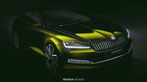 Skoda Superb facelift teased ahead of debut