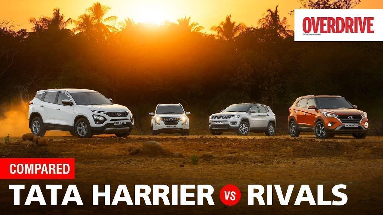 Tata Harrier vs Hyundai Creta vs Mahindra XUV500 vs Jeep Compass | Comparo