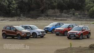 Hyundai Venue vs Mahindra XUV300 vs Tata Nexon vs Maruti Suzuki Vitara Brezza vs Ford EcoSport