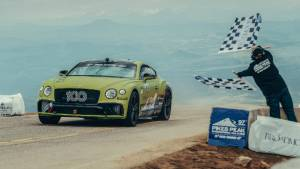 Bentley Continental GT sets new production car record at Pikes Peak