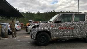 Updated 2019 Mahindra TUV300 Plus facelift spotted testing in India