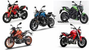 Specification comparison: CFmoto 400NK vs KTM 390 Duke vs Bajaj Dominar 400 vs Benelli TNT300 vs BMW G 310 R