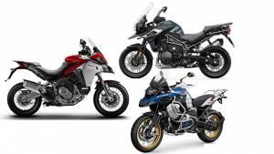 Specification comparison: 2019 Ducati Multistrada 1260 Enduro vs Triumph Tiger 1200 vs BMW R 1250 GSA