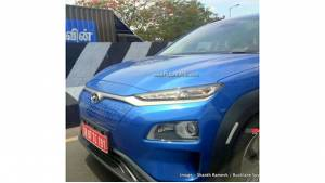 Hyundai Kona all-electric crossover spotted in India ahead of its launch on July 9