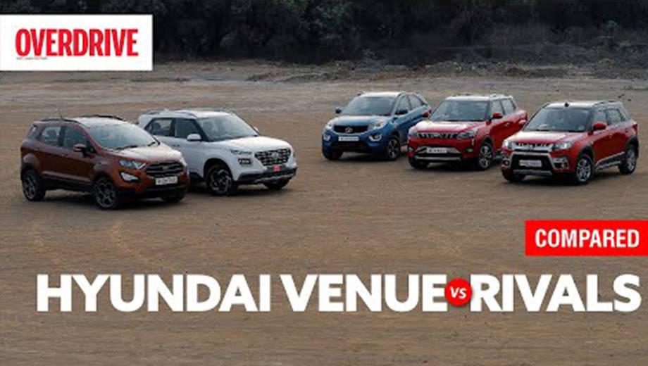 Hyundai Venue vs XUV300 vs Nexon vs Vitara Brezza vs EcoSport | Comparison test