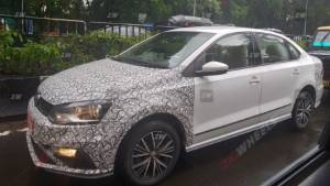 More spy images of the upcoming Volkswagen Vento and Polo facelifts appear online