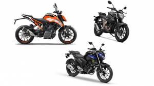 Spec comparo: Suzuki Gixxer 250 vs KTM 250 Duke vs Yamaha FZ 25
