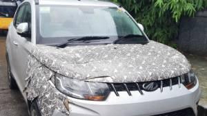 Upcoming Mahindra eKUV100 EV SUV spotted testing