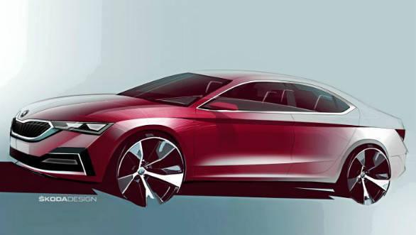 Next-generation 2020 Skoda Octavia shown in sketches ahead of November 11 reveal