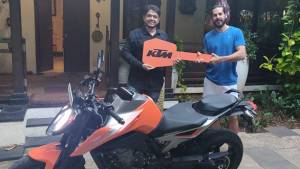 KTM 790 Duke deliveries commenced - First motorcycle delivered to the Bollywood actor Dino Morea