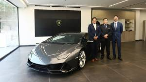 Lamborghini inaugurates a showroom in New Delhi, India